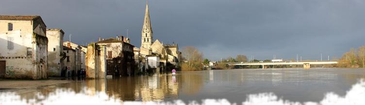 Crue de la Garonne à Langon