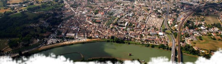Vue aérienne de Langon